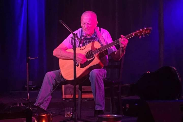 Gold Top Bob performs at Sand Dollar Lounge on Saturday, July 31, 2020. (John Katsilometes/Las ...