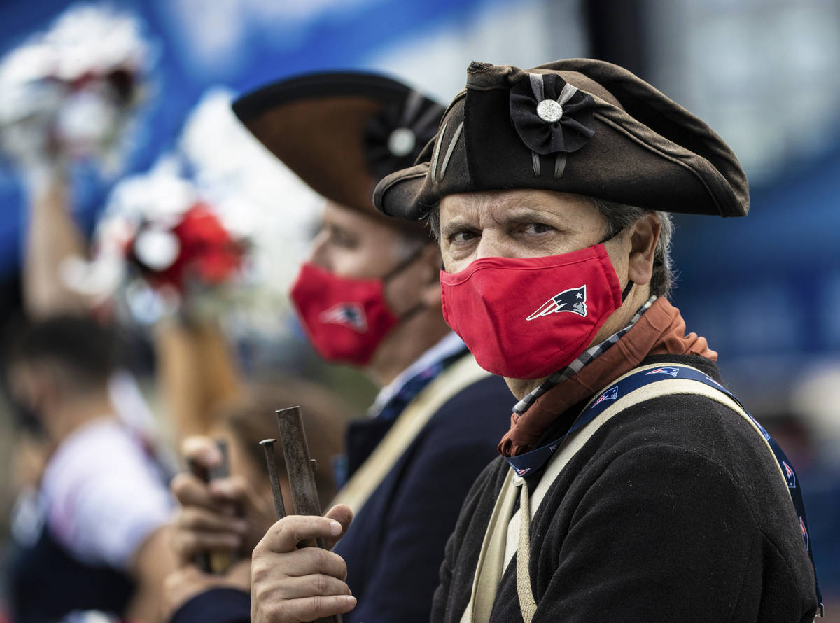 A member of the End Zone Militia in the fourth quarter during an NFL football game with the Las ...