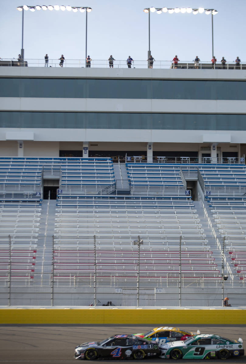 A NASCAR Cup Series auto racegoes on without spectators because of COVID-19 on Sund ...