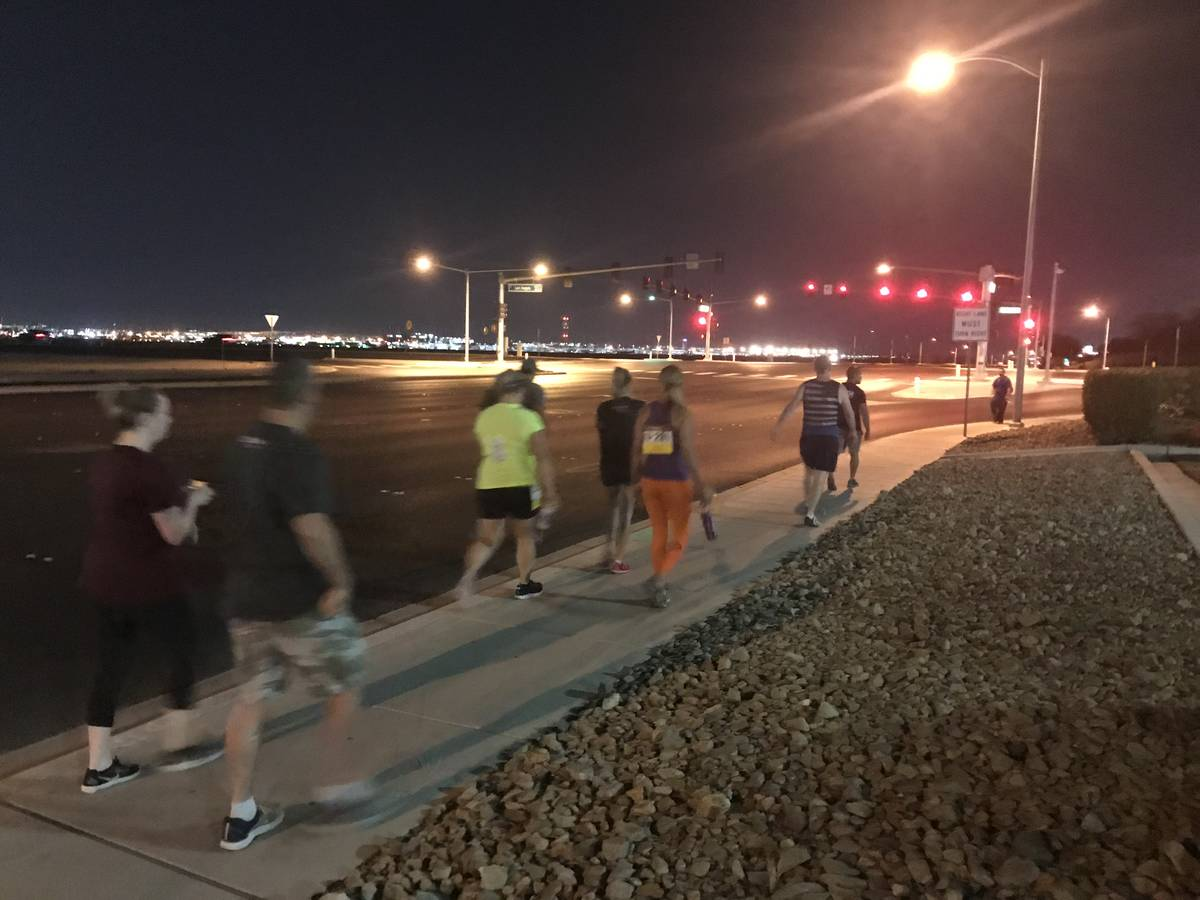 Participants made their way to Mandalay Bay at 5 a.m. Sunday. (Photo by Alex Chhith)