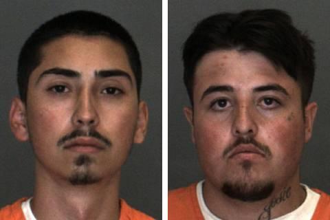 Christian Miller, left, and David Preston (Las Vegas Metropolitan Police Department)