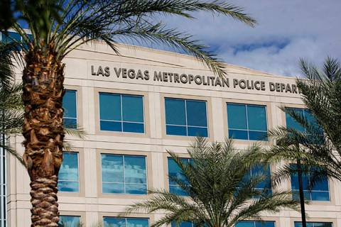 This undated file photo shows Las Vegas Metropolitan Police Department headquarters in Las Vega ...