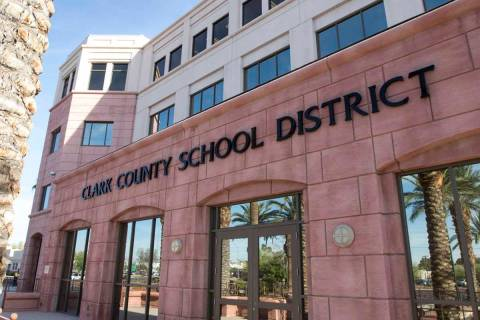 Clark County School District administration building at 5100 W. Sahara Ave. in Las Vegas (Revie ...