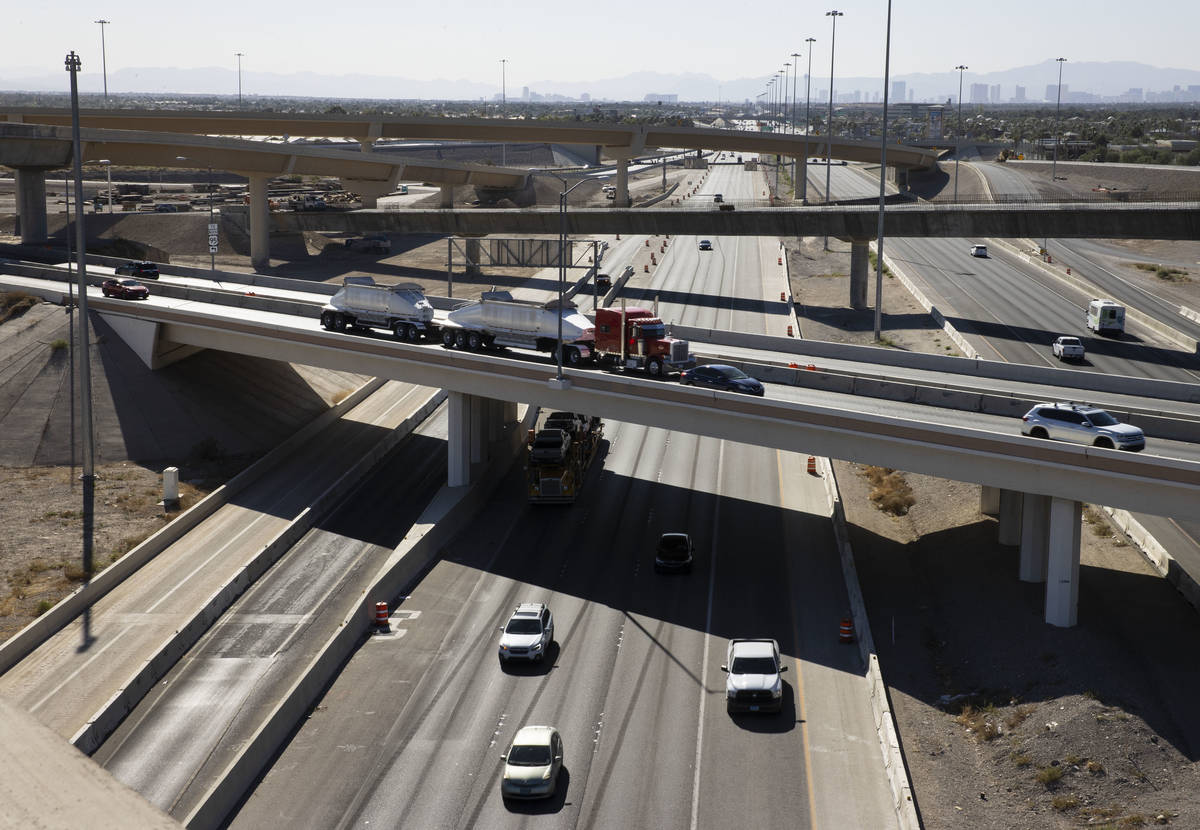 The 2,635-foot-long flyover and the state's second longest bridge, left, which connects northbo ...
