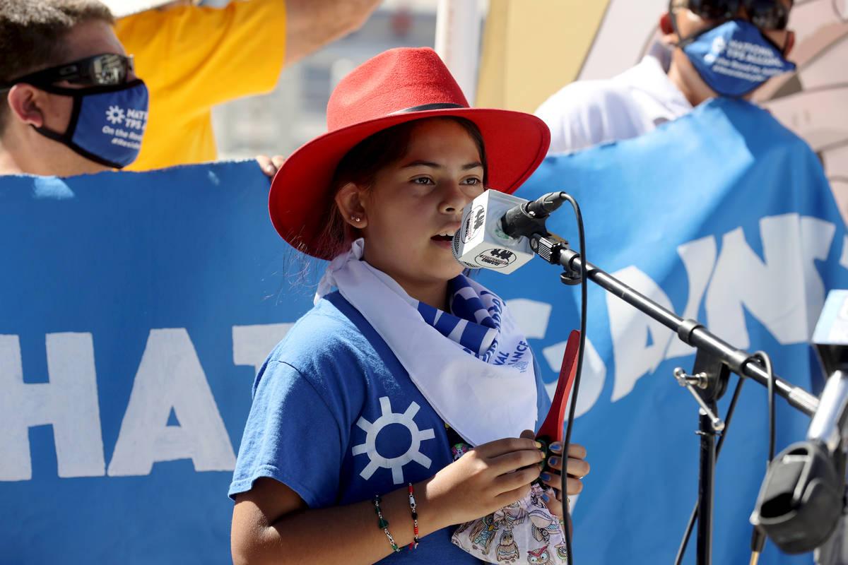 Marilyn Miranda, 10, of Washington D.C. during a press conference at Lloyd George U.S. Courthou ...
