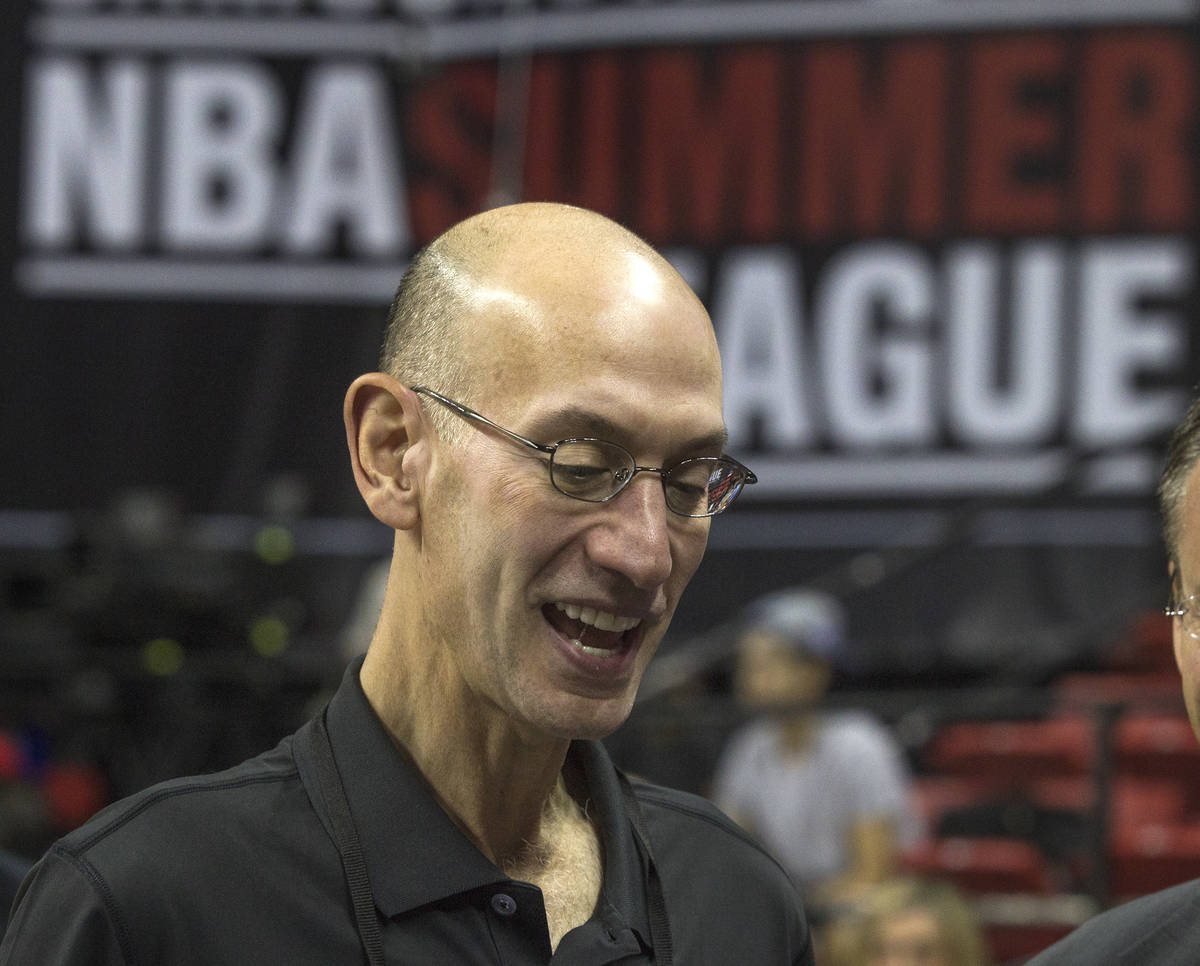 While he was in town for the NBA Summer League, commissioner Adam Silver floated the idea of pl ...