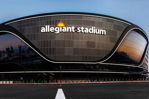 Allegiant Stadium on Wednesday, Aug. 26, 2020, in Las Vegas. (Benjamin Hager/Las Vegas Review-J ...