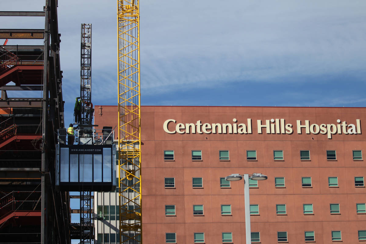 Centennial Hills Hospital during a topping off ceremony of a expansion project in Las Vegas, We ...