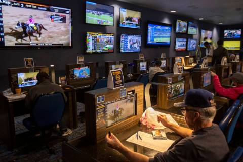 William Hill Race & Sports Book is open for betting on Friday, Nov. 8, 2019, at The Plaza in La ...