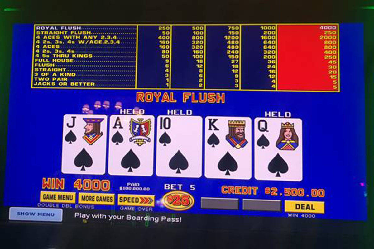 100k Royal Flush On Video Poker Hits Las Vegas Review Journal