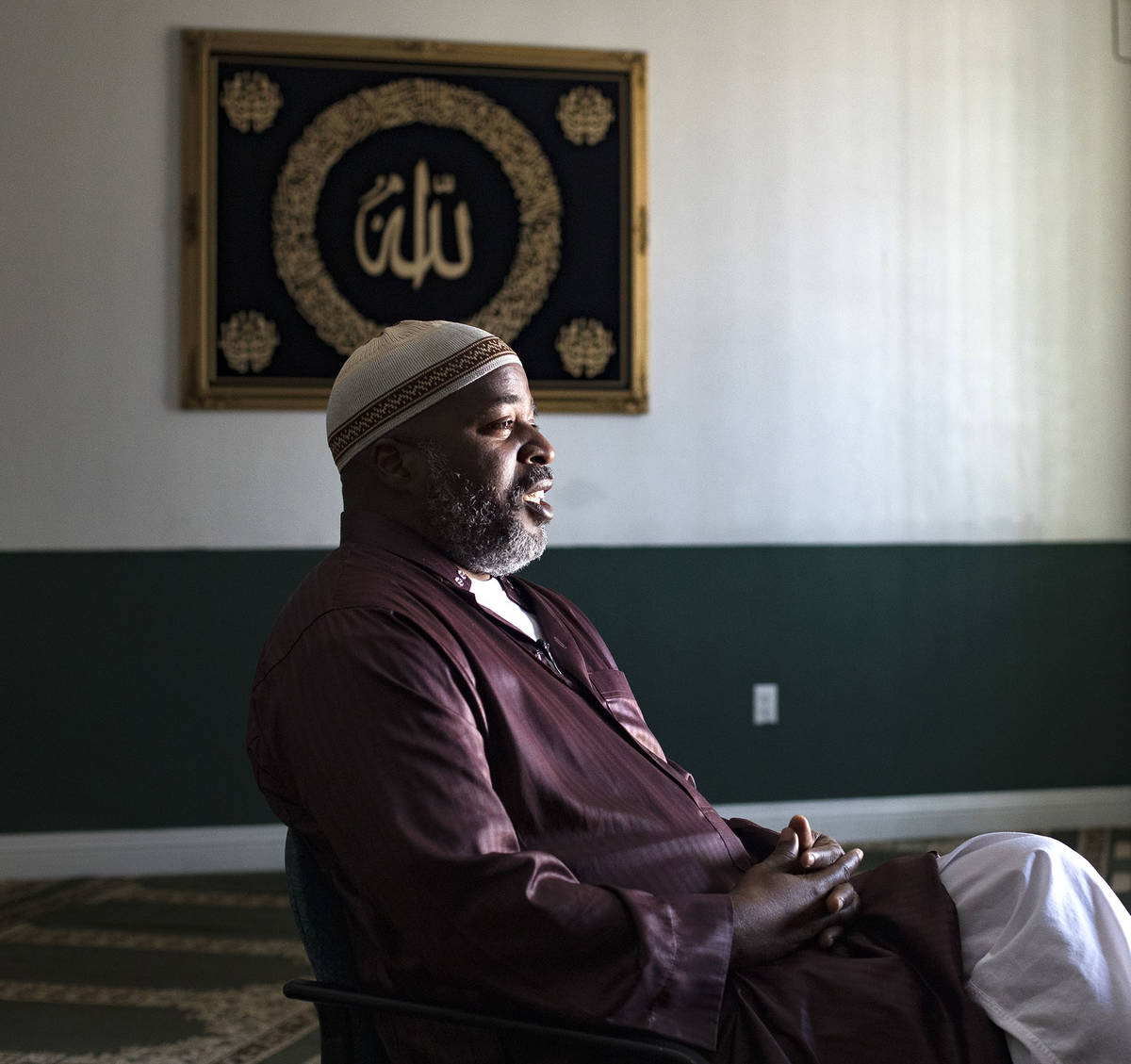 Imam Fateen Seifullah speaks to the Las Vegas Review-Journal at the Masjid As-Sabur mosque in L ...