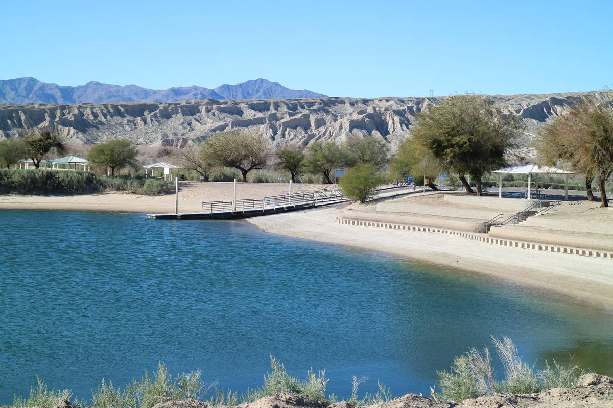 The lagoon at Big Bend of the Colorado State Recreation Area, at the southern tip of Nevada, ma ...