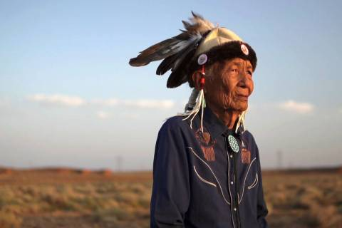 Jones Benally, early 90s, is a traditional Navajo medicine man. He is recognized by the state o ...