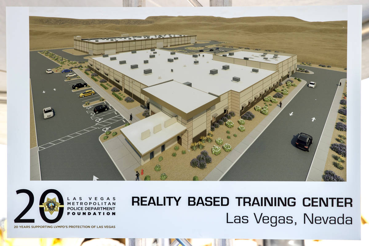 Display piece of the Las Vegas Metropolitan Police Department Reality Based Training Center cur ...
