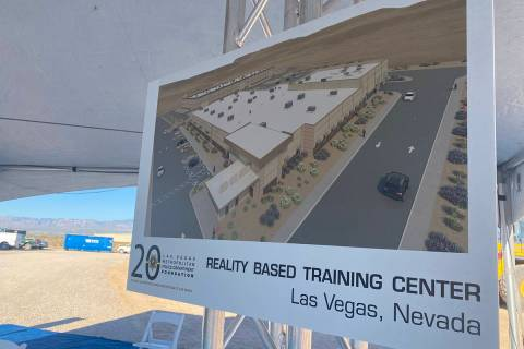 Las Vegas police unveil plans for a new Reality Based Training Center at 7370 E. Carey Road. Th ...