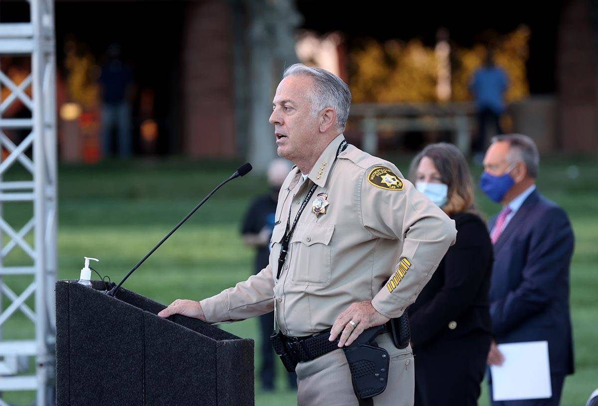Clark County Sheriff Joe Lombardo announces that the official Route 91 Harvest festival victim ...
