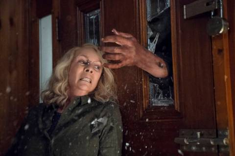 """Jamie Lee Curtis appears in a scene from """"Halloween."""" (Ryan Green/Universal Pictures)"""