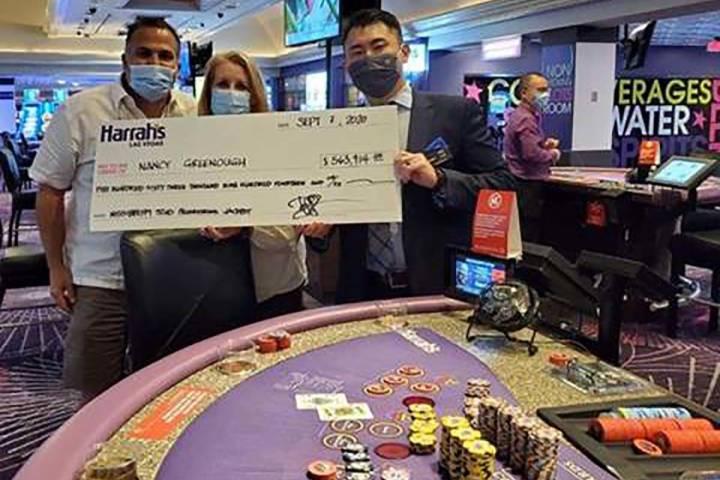 Nancy Greenough won more than $500,000 at Harrah's Las Vegas on Monday Sept. 7, 2020. (Photo co ...