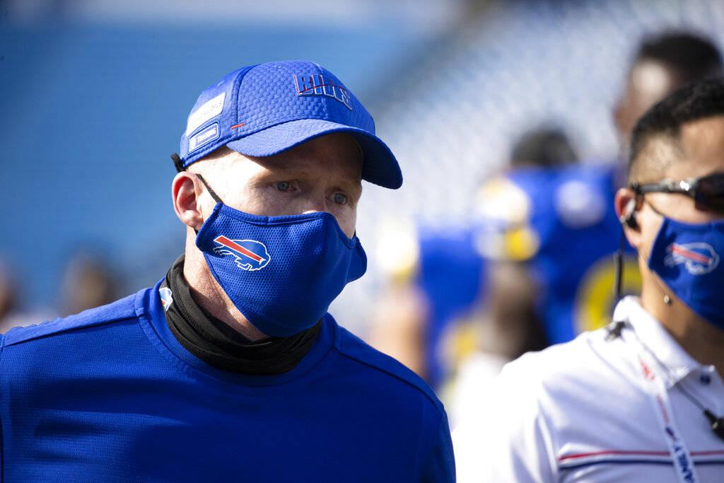 Buffalo Bills head coach Sean McDermott walks off the field after an NFL football game against ...