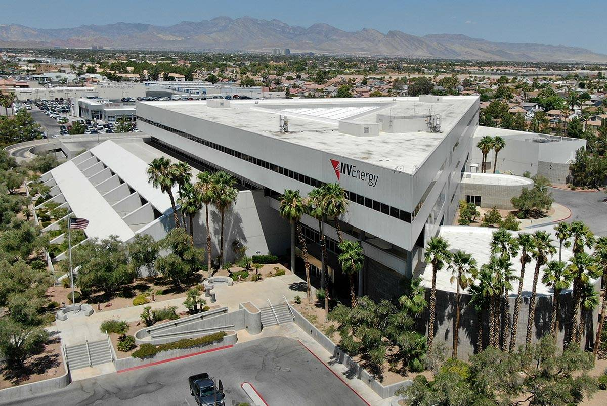 NV Energy's headquarters building on 6226 West Sahara Avenue as seen on July 24, 2020, was purc ...