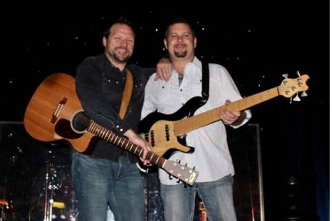 Michael Johnson, left, and Ray Allaire were longtime friends and popular Las Vegas musicians be ...