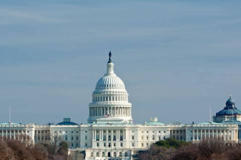 U.S. Capitol building in winter. (AP)