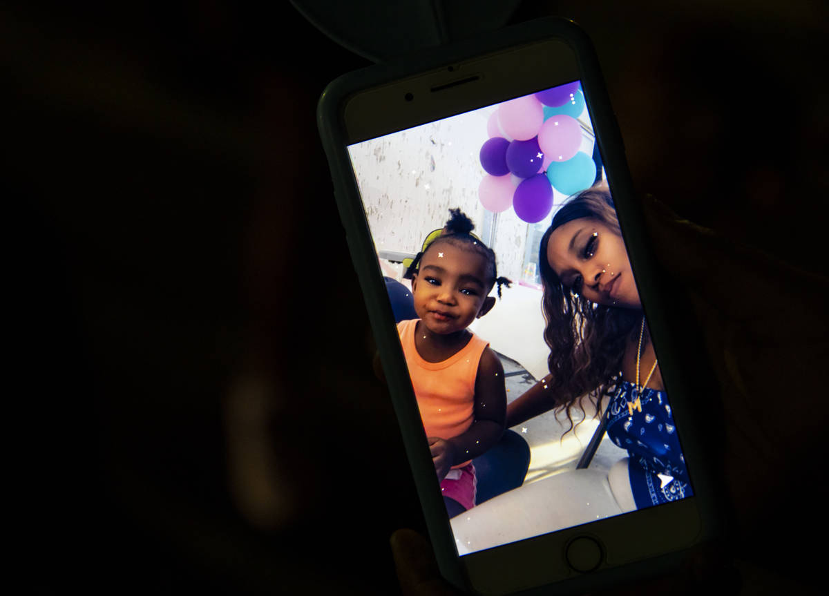 Mariah Coleman is seen in a picture with her daughter, 1-year-old Sayah Deal, in Las Vegas on T ...