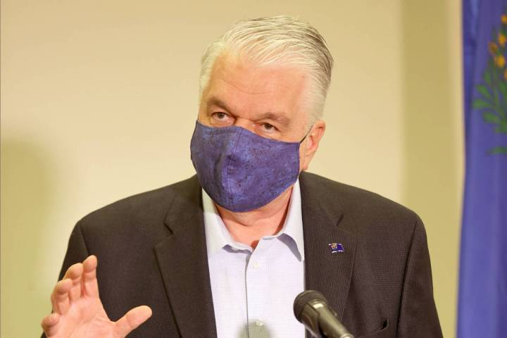 Gov. Steve Sisolak gives updates on Nevada's COVID-19 response efforts and lifting of restricti ...