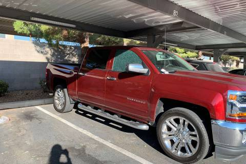 Vehicles are seen damaged Tuesday, Oct. 6, 2020, at Solitude at Centennial apartment complex, 7 ...