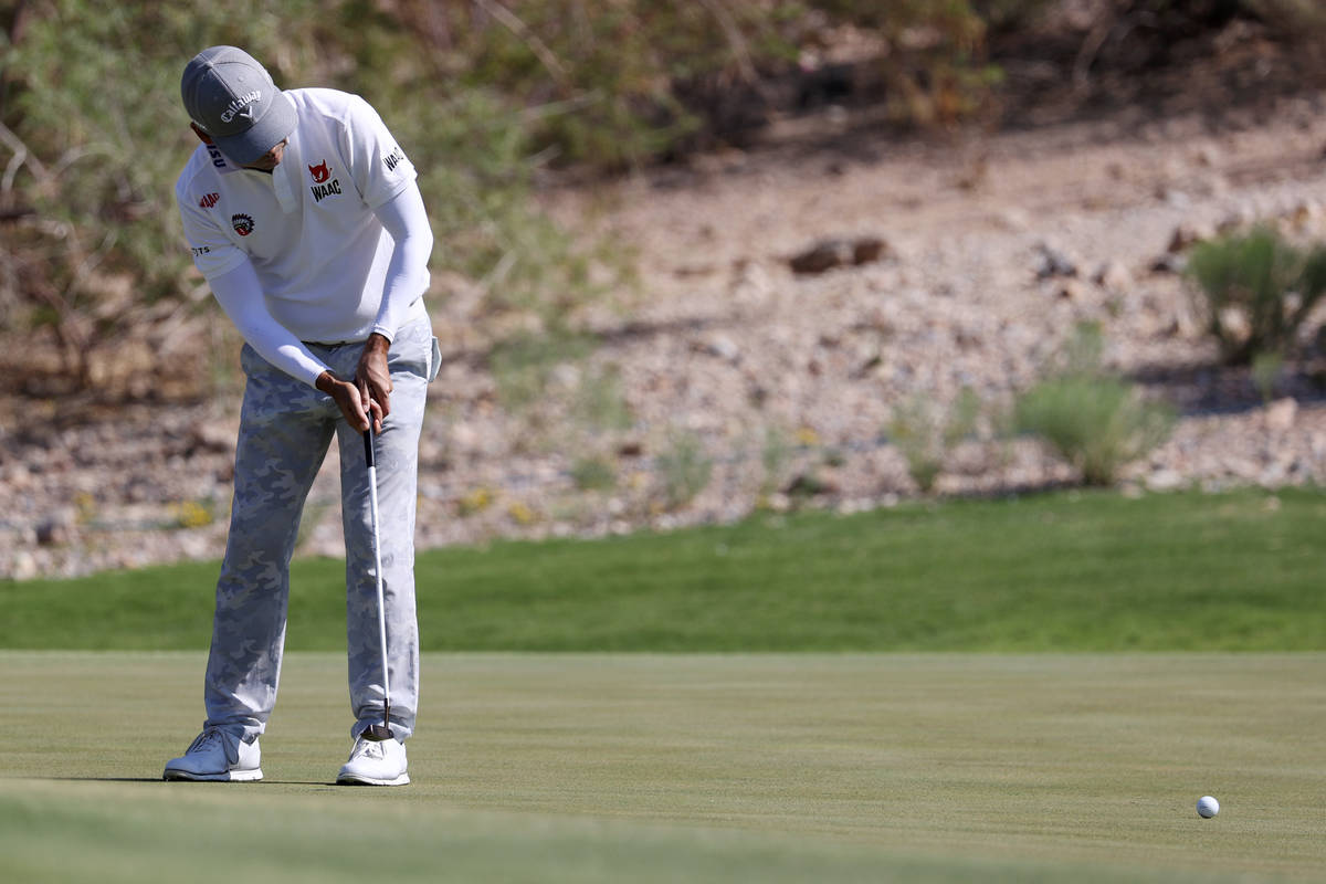 Kevin Na putts the ball during the Pro-Am event in the 2020 Shriners Hospitals for Children Ope ...