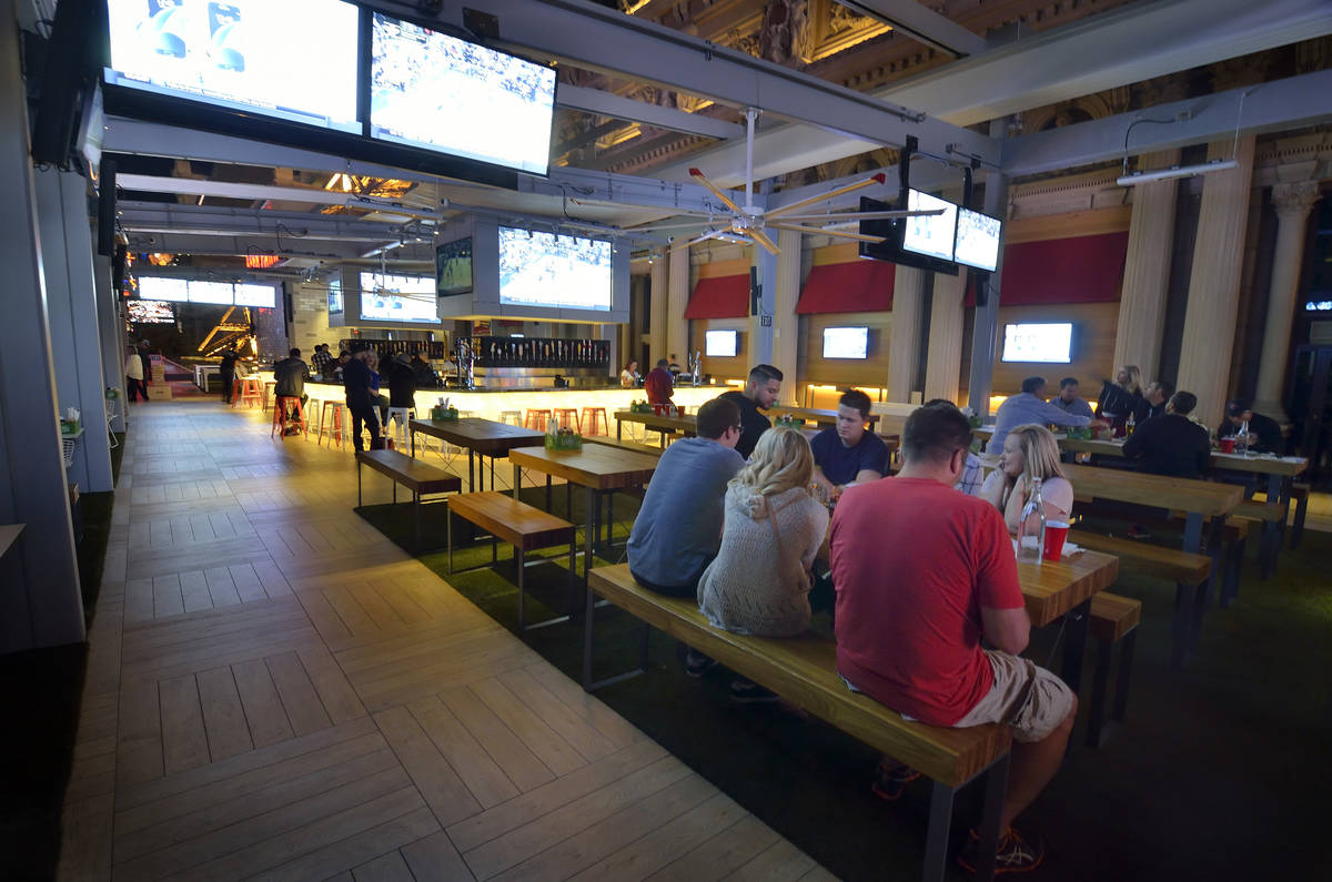 The interior of the Beer Park at Paris Las Vegas (Bill Hughes/Las Vegas Review-Journal)