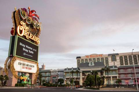 The Orleans photographed on Tuesday, May 12, 2020, in Las Vegas. (Bizuayehu Tesfaye/Las Vegas R ...