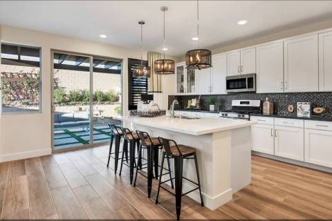 The Cobalt Plan One model home in Skye Canyon is fully furnished, landscaped and ready for move ...