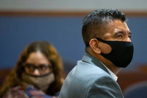 Alpine Motel Apartments owner Adolfo Orozco, right, and his co-defendant, Malinda Mier attend a ...