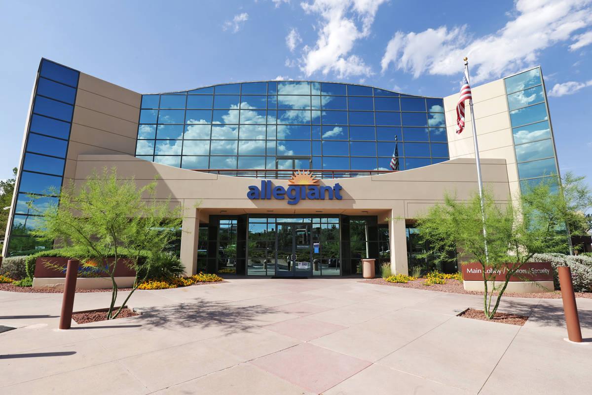 The Allegiant Air corporate headquarters in Las Vegas. (Rachel Aston/Las Vegas Review-Journal) ...
