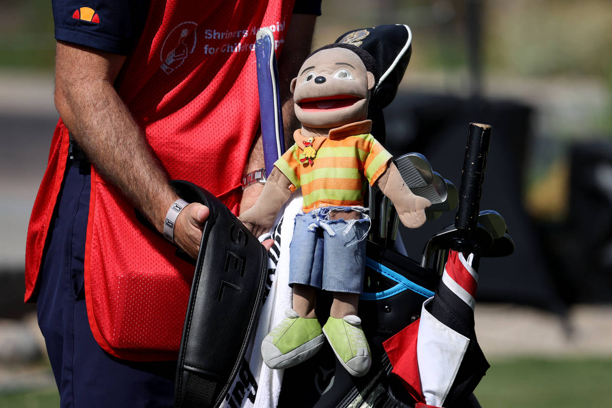 The head cover on the driver club of Harold Varner III is seen during the 2020 Shriners Hospita ...