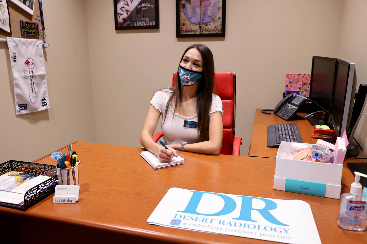 Gladys Valadez, a physician relations representative at Desert Radiology, works at the DR locat ...