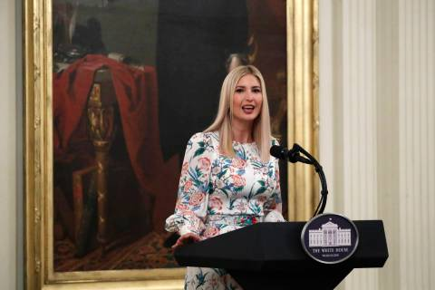 "Ivanka Trump speaks during a signing ceremony for H.R. 1957 – ""The Great American O ..."