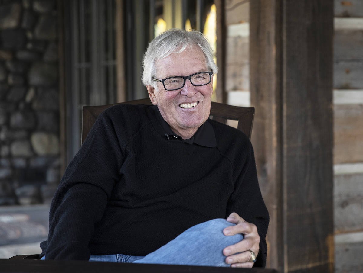 Golden Knights owner Bill Foley at Rock Creek Cattle Company on Friday, Oct. 9, 2020, in Deer L ...