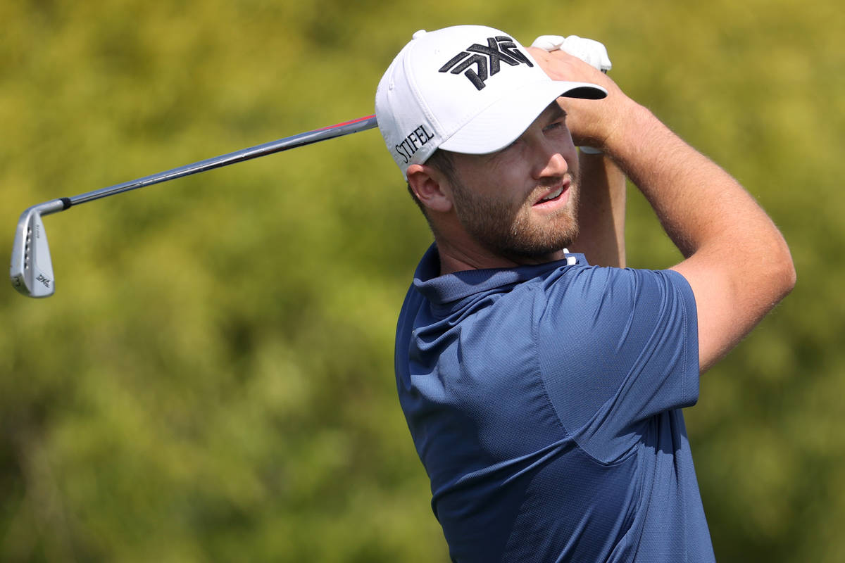 Wyndham Clark tees off the first hole during round three of the 2020 Shriners Hospitals for Chi ...