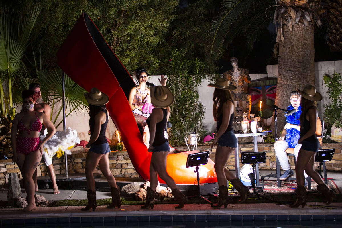 """Members of """"X Country"""" are shown during the PodKats! """"End of Summer bash"""" with Melody Sweets an ..."""