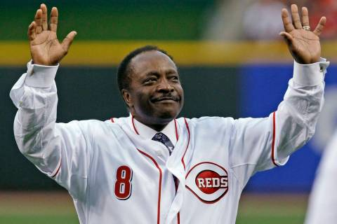 In this Wednesday, April 7, 2010, file photo, Cincinnati Reds Hall of Fame second baseman Joe M ...