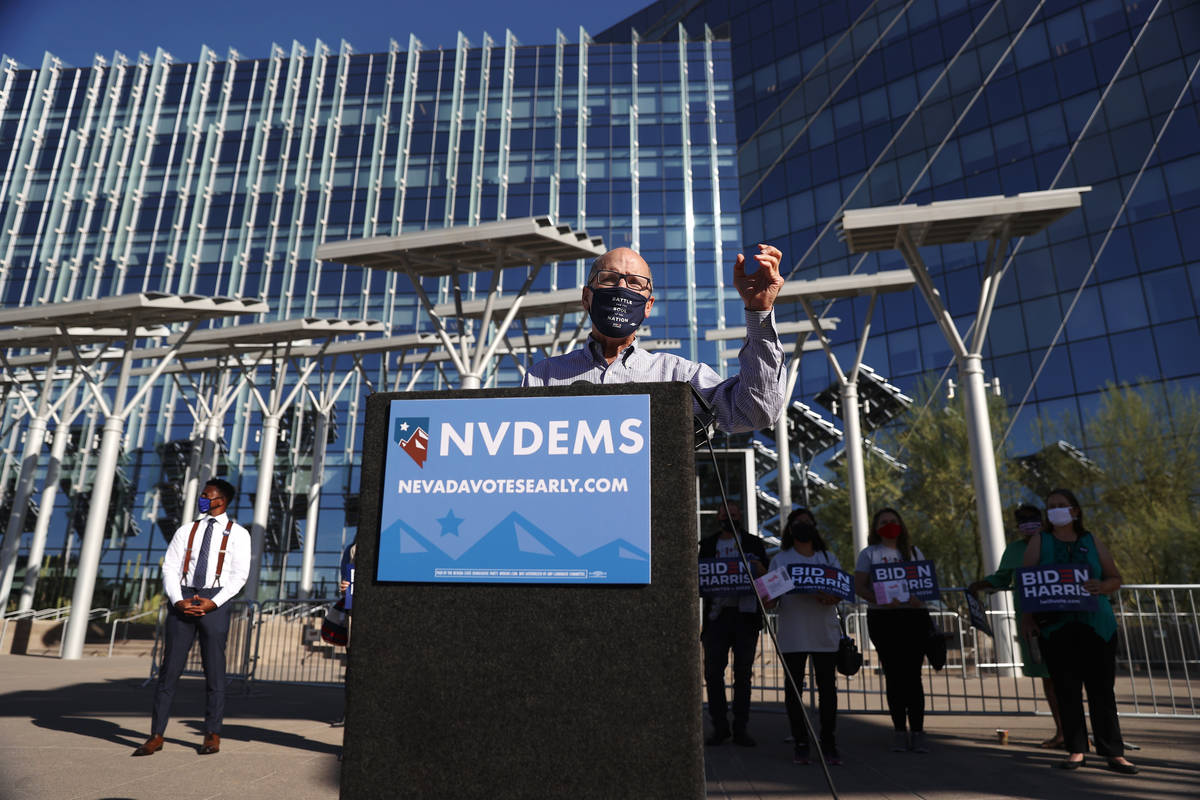 Democratic National Committee Chair Tom Perez speaks during a press conference to promote Democ ...