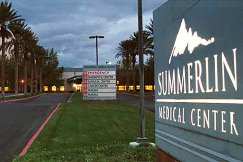 The computer networks of Valley Health System, which includes Summerlin Hospital Medical Center ...