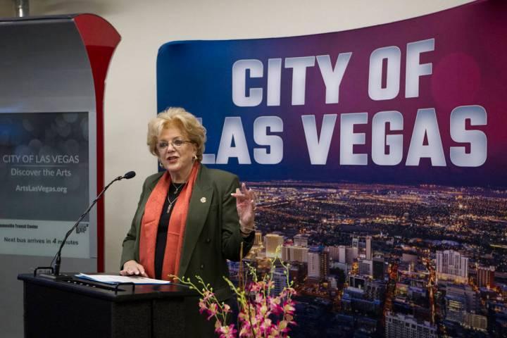 Mayor Carolyn Goodman during a presentation of new technology at Las Vegas City Hall in Las Veg ...