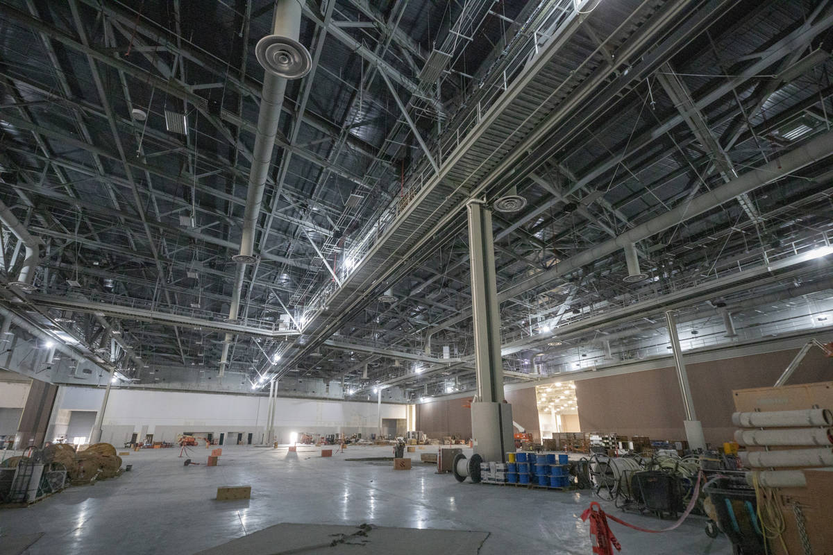 The new expansion of the Las Vegas Convention Center West HallÕs trade show floor is seen ...