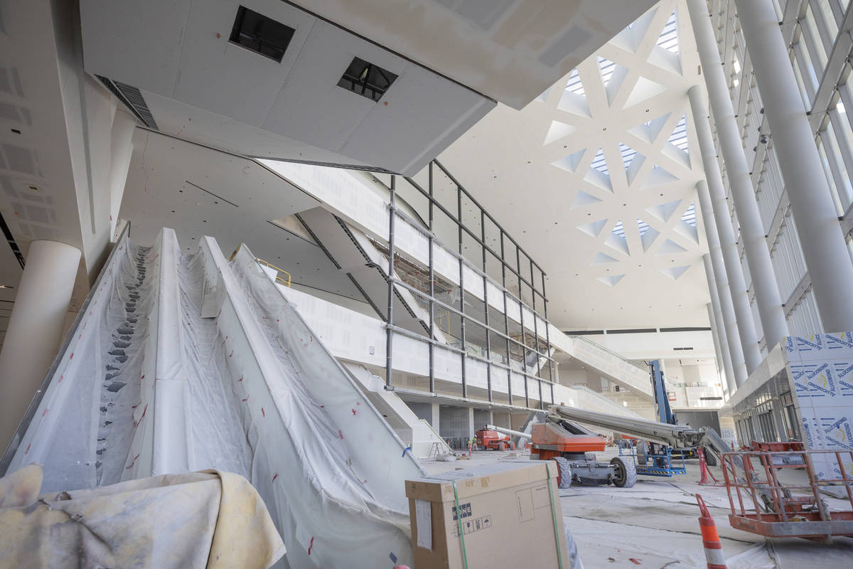 a tour of the Las Vegas Convention Center West Hall, which has plans to open in mid-December, o ...