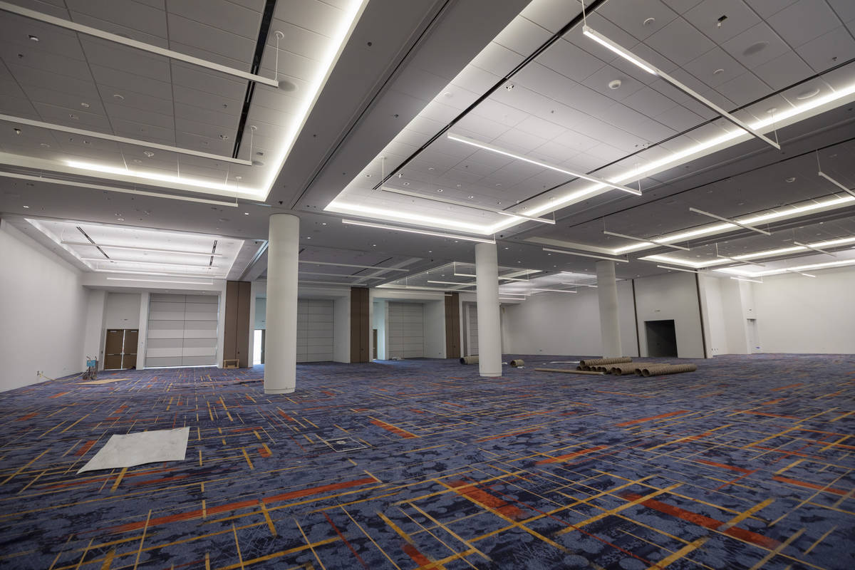 A meeting room is seen during a tour of the Las Vegas Convention Center West Hall, which has pl ...