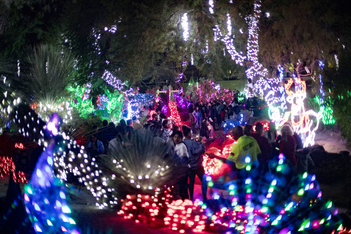 Ethel M Christmas Lights 2021 Ethel M S Cactus Garden Will Light Up For The Holidays Las Vegas Review Journal