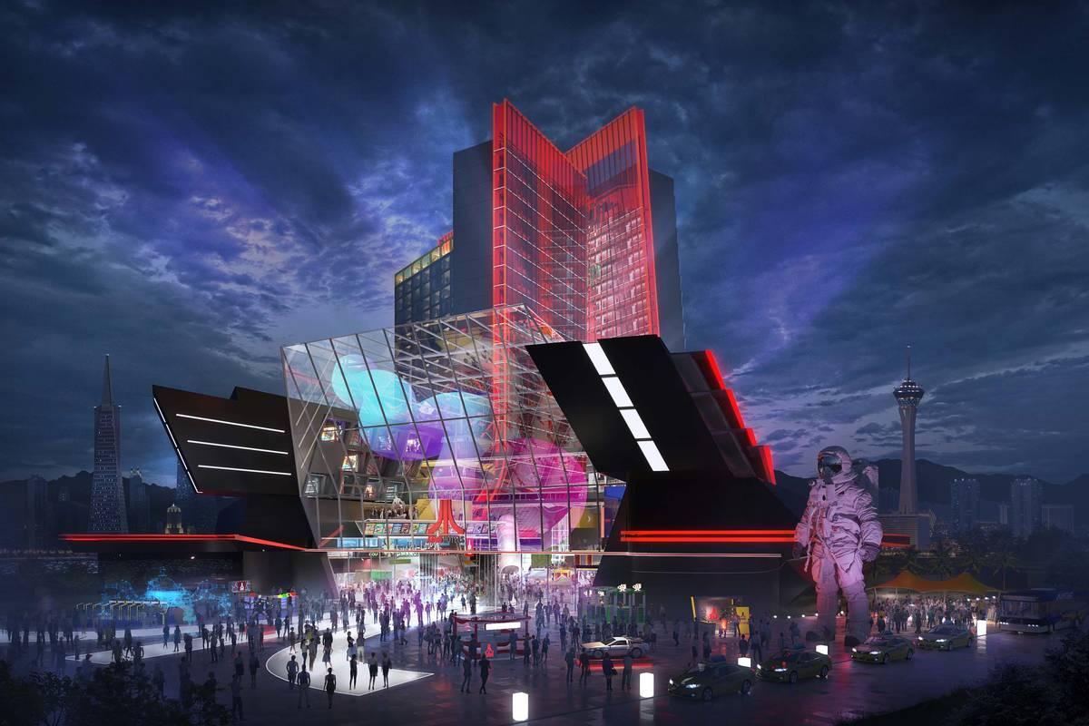 atari reveals details on proposed las vegas hotel las vegas review journal las vegas review journal